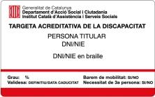 Targeta acreditativa de la discapacitat